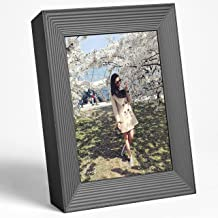 Aura Frames Digital Picture Frame Ultra HD Display - Free Unlimited Cloud Storage - Send 100k Pictures Instantly Via Aura App Share Photos with Family New Touch Bar Control WiFi Enabled Mason Frame