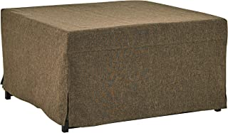 Handy Living Space Saving Folding Ottoman Sleeper Guest Bed, Tobacco Brown, Twin