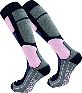 GAWILO 2 paires de chaussettes de ski pour femme Gawlo Thermolite - Chaussettes de snowboard - Chaussettes fonctionnelles ...