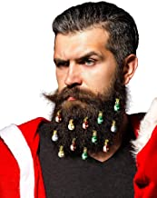 Beardaments Beard Ornaments 12pc Colorful Christmas Facial Hair Baubles for Men in the Holiday Spirit Easy Attach Mini Mus...