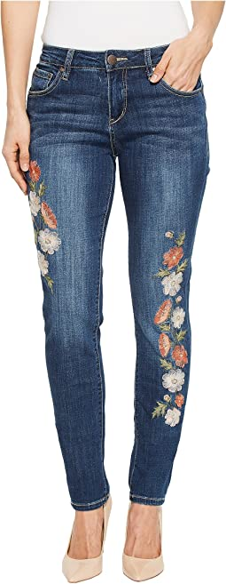 Jag Jeans - Sheridan Skinny Jeans w/ Embroidery in Thorne Blue