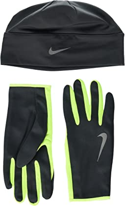 Nike - Run Dry Hat and Gloves Set