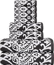 Utopia Towels Premium 8 Piece Jacquard Towel Set (Grey); 2 Bath Towels, 2 Hand Towels and 4 Washcloths - Cotton (8 Pack), ...