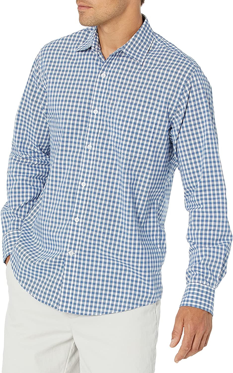 Amazon Essentials Men's Long-Sleeve Poplin Sh Casual Max 50% Large special price !! OFF Regular-fit
