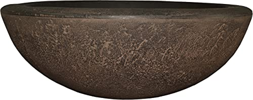 new arrival Sunnydaze Percival Flower Pot Planter Bowl, online sale popular Outdoor/Indoor Ultra-Durable Double-Walled Polyresin, UV-Resistant Sable Finish, Single, Large 21-Inch Diameter sale