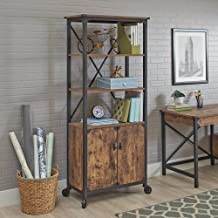 Rustic Country Library (1-Piece Country Library, Weathered Pine)