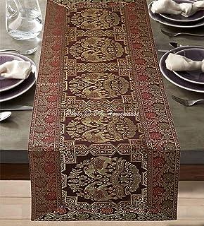 DK Homewares Indien Décoration De Maison 60 X 16 Pouces Chemin De Table Brocart Café Jacquard Rectangular 5 Pieds Nappe De...