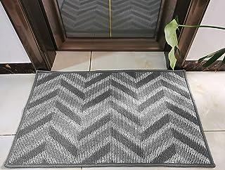 Lanyee,Durable Door Mat, Non Slip,Traps Dirt, Indoor Outdoor Mat, Heavy Duty Doormat, Machine Washable Low-Profile Doormat...