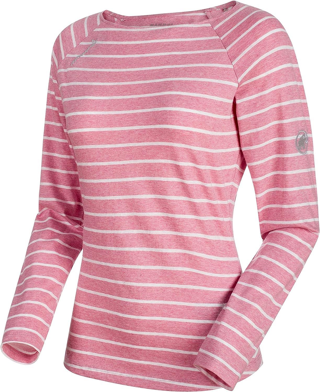 Mammut Women's Wall Longsleeve, pink MelangeWhite Melange, Extra Small, 1041062313486112