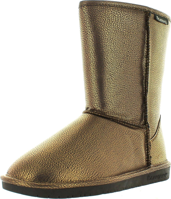 Bearpaw Women's Emma Short Boot,Chocolate Metallic,7