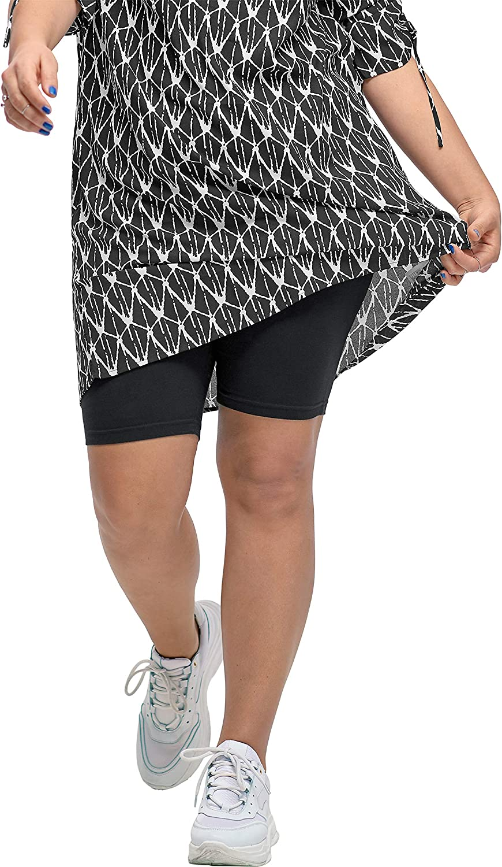 ellos Women's Plus Size Stretch Knit Bike Shorts