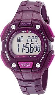 Timex ساعة كوارتز للنساء، شاشة رقمية وحزام راتنج TW5K89700