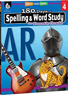 180 Days of Spelling and Word Study: Grade 4 - Daily Spelling Workbook for Classroom and Home, Cool and Fun Practice, Elementary School Level ... Concepts (Practice-Assess-Diagnose)