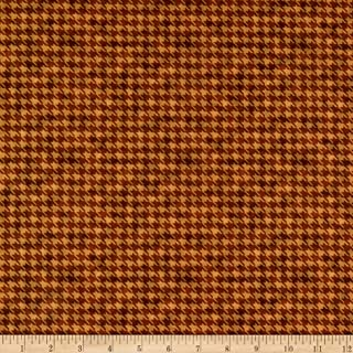 Fabric & Fabric QT s Turkey Hill Houndstooth Brown, Fabric by the Yard