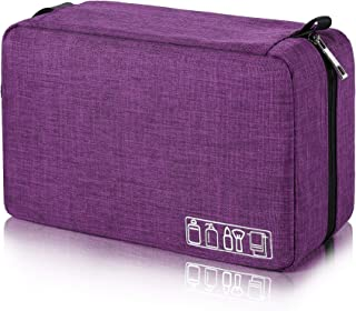 Mens Toiletry Bag Hanging Travel Shaving Dopp Kit Waterproof Organizer Bag Perfect Travel Accessory Gift (Purple)