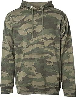 Men's Mid-Weight Fleece Hooded Pullover Sweatshirt Athletic Long Sleeve Hoodie