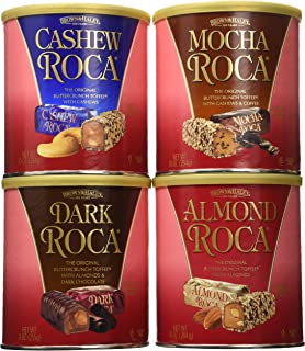 Brown and Haley Dark Roca, Almond Roca, Cashew Roca, Mocha Roca Tote Variety 39 OZ