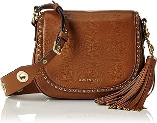 Women's Medium Brooklyn Leather Saddle Bag Leather Cross-Body Satchel