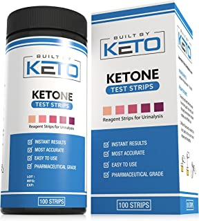 Built by Keto Ketone Strips - Perfect for Ketogenic Diet and Diabetics - Precise Ketone Measurement in 15 Seconds - Supports Ketone Adaptation. Keto, Paleo, or Low Carb Diet - 100 Urine Test Strips