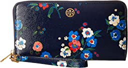 Tory Burch - Parker Printed Zip Continental Wallet