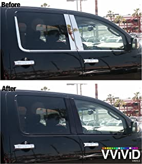 VViViD No-More Chrome Black Vinyl Overlay Wrap Black-Out Strips Roll DIY (Satin Matte Black (40ft x 2 Inch Bulk Roll))