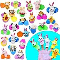 Prefilled with Animal Finger Puppets Soft Velvet Dolls Props Toys for Party Favors Easter Egg Fillers 20pcs Easter Finger Puppet Set for Toddlers Easter Eggs Hunt Easter Basket Stuffers