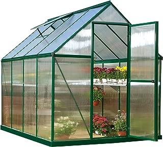 Palram HG5008G Mythos Greenhouse, 6' x 8' x 7', Green