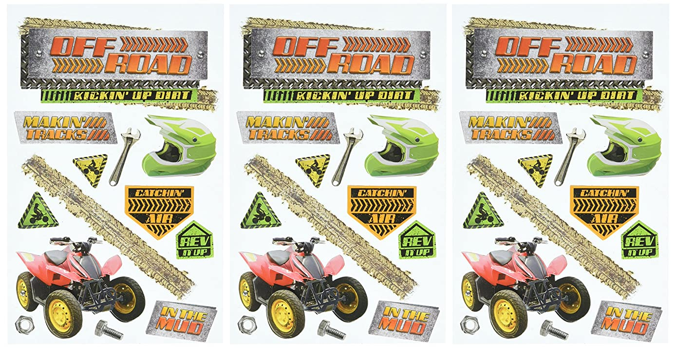 Paper House Productions STDM-0238E 3D Cardstock Stickers, Off Road