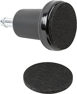 High Profile Bell Glides with Felt Pads Included for Chairs and Stools- 5 Per Set by Pop Designs