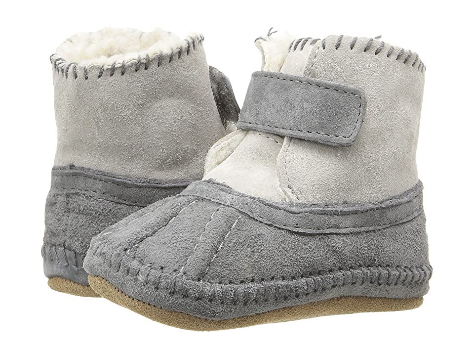 Robeez Galway Cozy Bootie Soft Sole (Infant/Toddler) (Grey) Boys Shoes