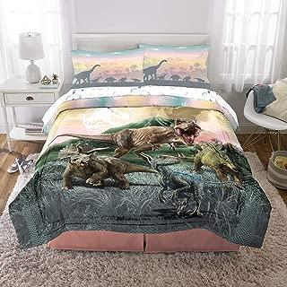 Franco Kids Bedding Super Soft Microfiber Comforter and Sheet Set, 5 Piece Full Size, Jurassic World Girls