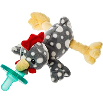 Mary Meyer WubbaNub Soft Toy and Infant Pacifier, Rocky Chicken