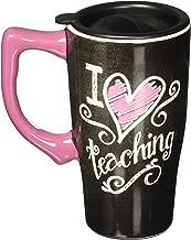 Spoontiques I Love Teaching Travel Mug, Black