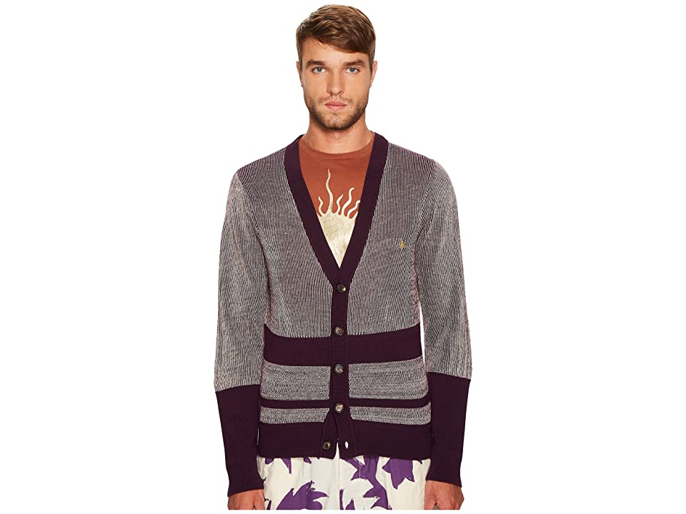 Vivienne Westwood Raw Cardigan (Purple) Men