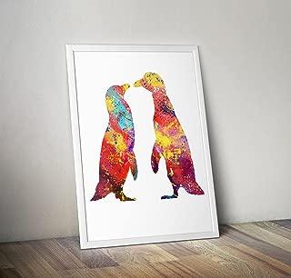 Pinguin inspiriert Aquarell Poster Print Geschenke - Alternative TV/Movie Poster in verschiedenen Größen (Rahmen nicht im Lieferumfang enthalten)
