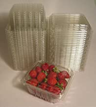 حاويات صدفية بلاستيكية للتوت والطماطم الكرز وغيرها من المنتجات الصغيرة - حجم نصف لتر (عبوة من 25)