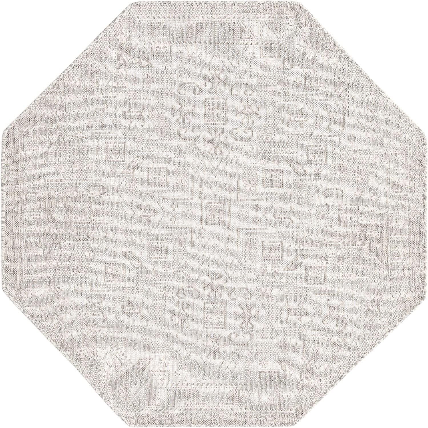 Rugs.com Outdoor Aztec Collection San Francisco Mall Rug OFFicial site – Light 5 Octagon Ft
