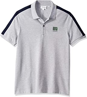 Lacoste Men's S/S Mini Pique Stretch Stripe Sleeve Slim...