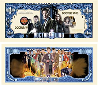 Limited Edition Doctor Who Collectible Million Dollar Bill in Currency Holder