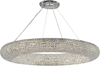 "Crystal Ring Chandelier Modern/Contemporary Lighting Floating Orb Chandelier 71"" Wide - Good for Dining Room, Foyer, Entryway, Family Room and More!"