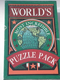 WORLD'S MOST INCREDIBLE PUZZLE PACK 6-BOOK-BOX SET: Visual Thinking, Word Puzzles for the Creative Thinker, 101 Word Games, Split Decisions & Other Word Puzzles, Brain Bafflers, World's Most Incredible Puzzles