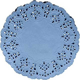 Darice Light Blue Paper Doilies, 50 Piece