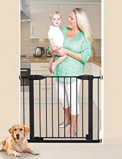 Dreambaby Boston Magnetic Auto Close Security Gate w/Stay Open Feature (29.5-38 inches, Black)