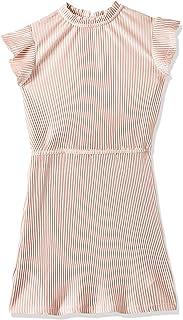 Tommy Hilfiger Girl's Velvet Plisse Dresses, Purple, 86 EU