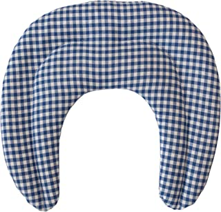 Saco térmico de semillas | Cojín térmico para el cuello | Almohada térmica compartimentada para semillas de grosella (color: azúl y blanco)