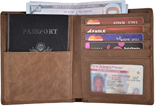 Outrip Leather Passport Holder Cover Wallet Case RFID Blocking Travel Wallet