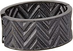 GUESS - Chevron Stripe Wide Stretch Bracelet