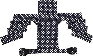 北極しろくま堂 昔ながらのおんぶひも 背当て頭あてつき ブルーベリーパイ(総柄) 本体:綿100% ON-50-X-3420