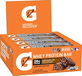 12-Count Gatorade Whey Protein Recover Bars 2.8 ounce