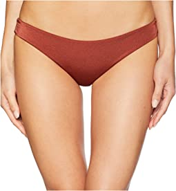 Solid Shimmer Cheeky Swim Bottom